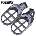 1 Pair Motorcycle Footpegs Steel Footrest For Suzuki DR250/DR350 DR350SE DR650 Motorbike Motocross Dirt Bike Racing Foot Pegs