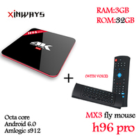 Newest Amlogic S912 H96 Pro Octa Core Android 6 0 2 4G 5GHz Wifi HD2 0