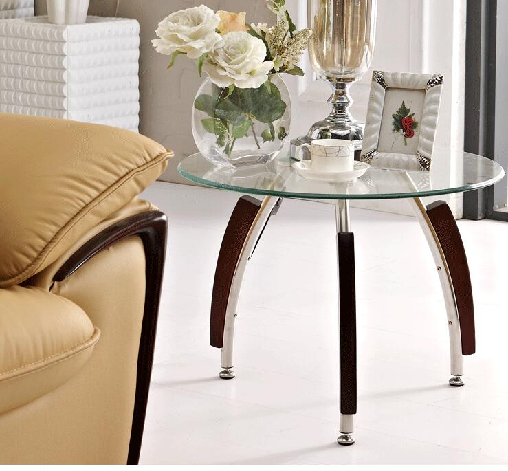 Free shipping Toughened glass tea table. The circular transparent small round table. 1