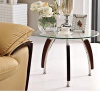 Ücretsiz kargo Sertleştirilmiş cam çay masası. Dairesel şeffaf küçük yuvarlak masa.