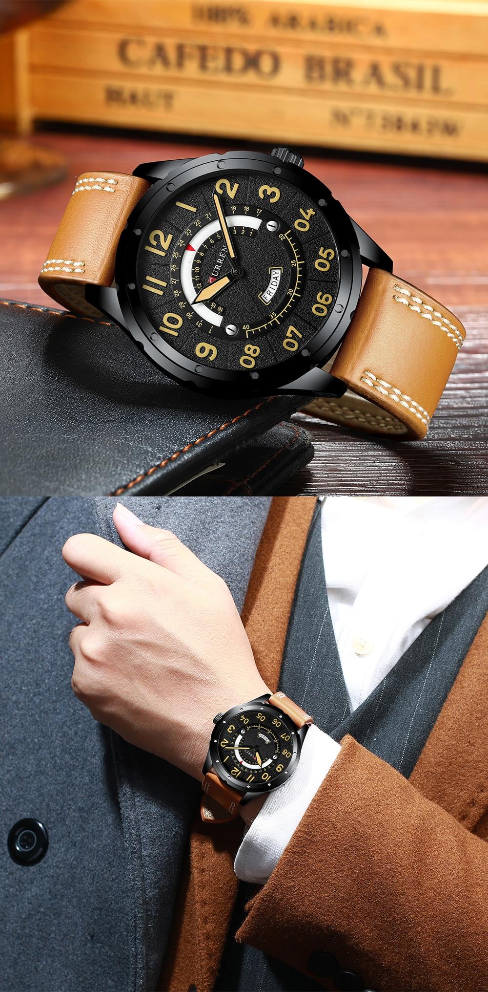 HTB1ZXtpaq67gK0jSZFHq6y9jVXaU CURREN Date Mens Watches Luxury Sport Watch
