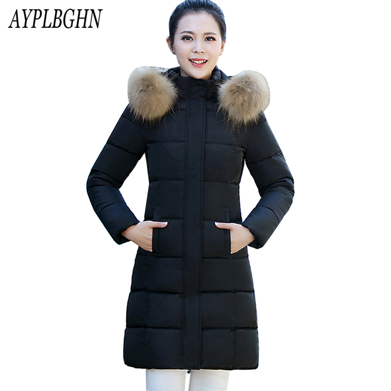 New Winter Fashion Cotton Coat Female Slim Warm Hooded Parkas Female Overcoat High Quality Women Cottonpadded Jacket plus size women winter coat leisure big yards hooded fur collar jacket thick warm cotton parkas new style female students overcoat ok238