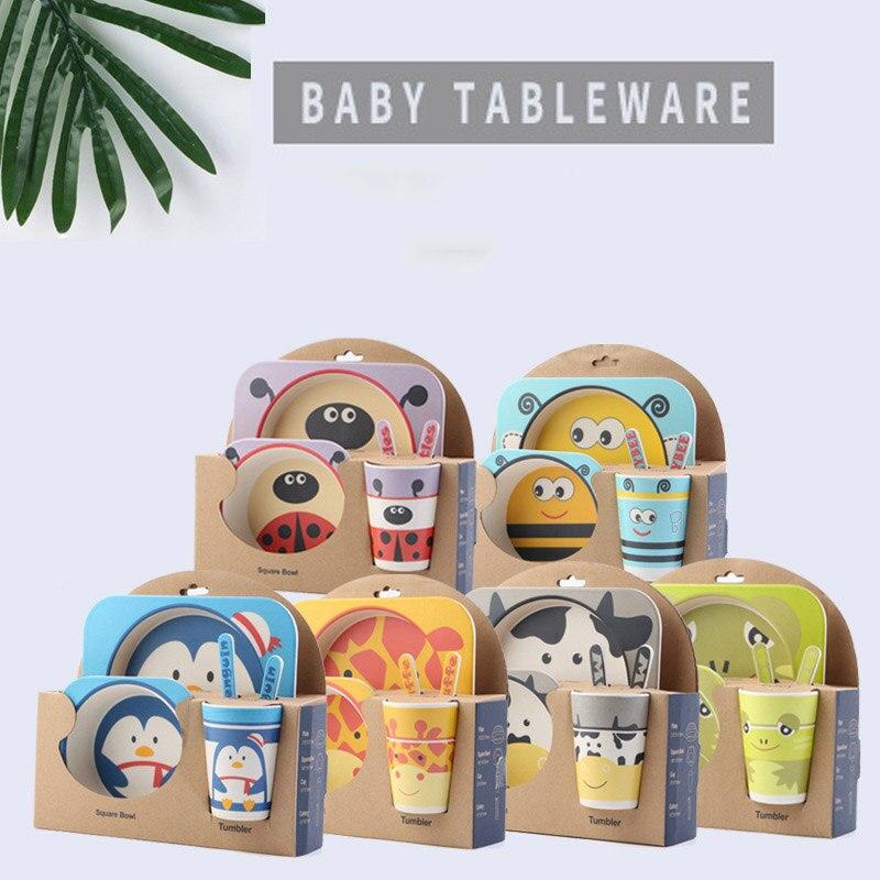 Горячая Детские тарелка чаша набор посуды набор для кормления детей тарелках тарелки Дети наборы посуды кормушки ужин набор Tablewar