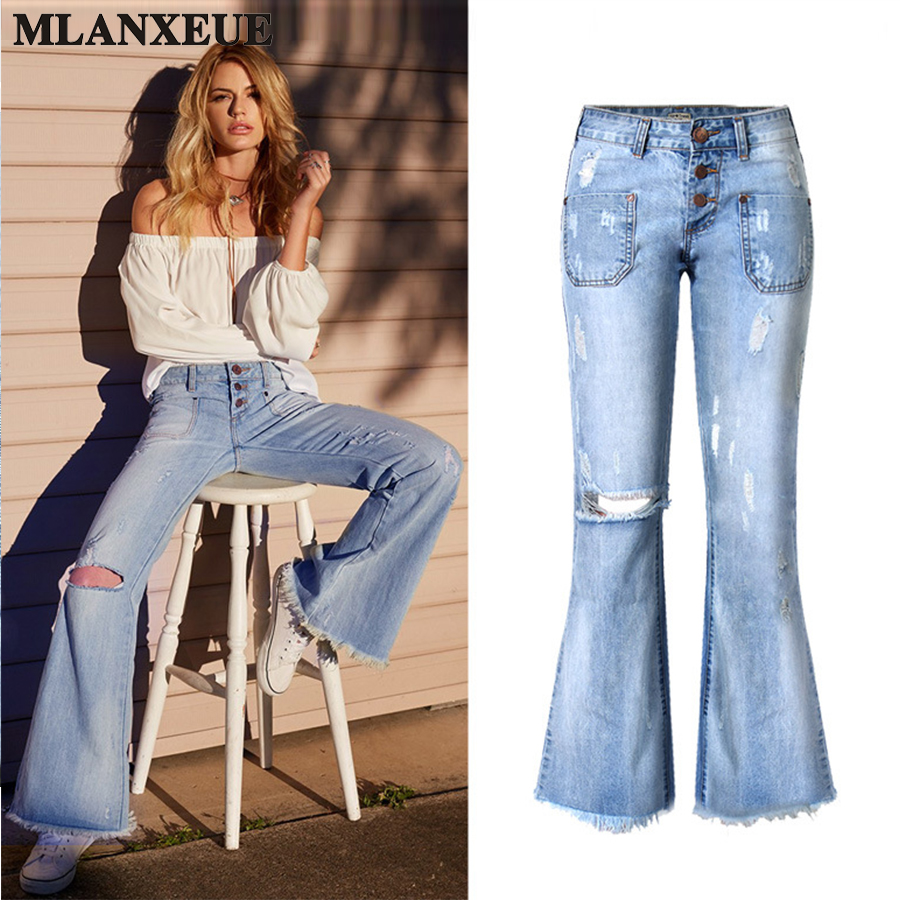 Fashion Loose Nine Points Jeans Woman Slim Holes Large Size Pants  Cool Wide Leg Pants Retro Mid Waist Casual Pants Female hot new large size jeans fashion loose jeans hip hop casual jeans wide leg jeans