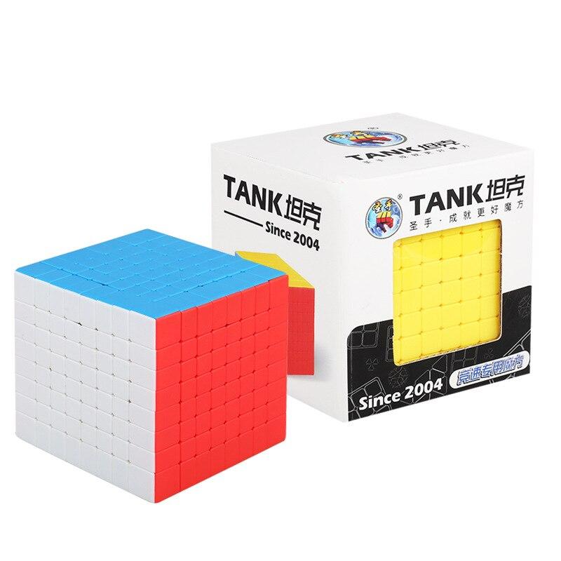 TANQUE Professional Stickerless SHENGSHOU Cubo Mágico 8*8*8 8x8 Cube Velocidade Enigma Brinquedos Educativos cubo magico