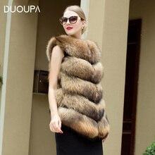 DUOUPA Real Fur Vest and Coats Raccoon Dog coats women Natural  58-72CM Womens Coat