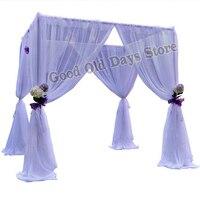 10'x10'x10' белые свадебные павильон с трубы из нержавеющей стали, подставка площади полог шторы свадебное оформление сцены