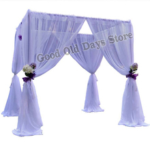 10'x10'x10′ White Wedding Pavillion with stainless steel Pipe Stand square canopy drapes Wedding Stage Decoration