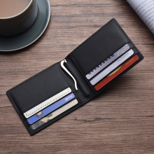 Luxury RFID Genuine Leather Men Wallet Male Purse For Money Clamp Clip Bag Business Card Holder Short Portomonee Walet Vallet купить недорого в Москве
