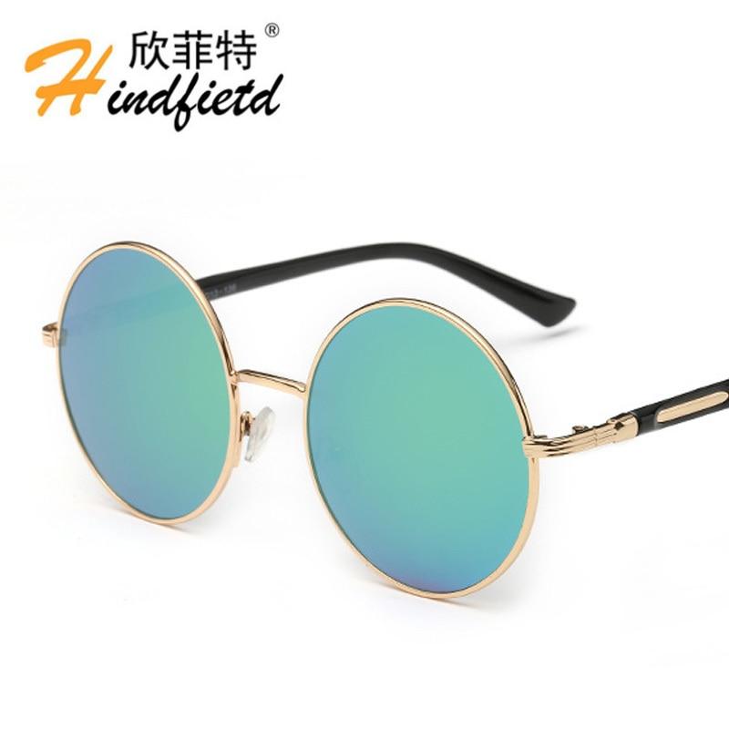 90e50d5ba96ae O Novo Ms atacado dos homens tendência lente UV400 Polarizada Óculos De Sol  De Luxo Do Vintage Óculos Simples moldura de espelho Redondo