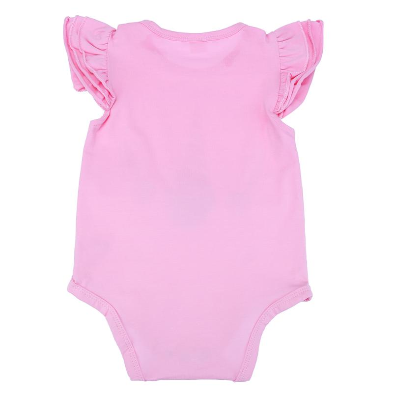 Для новорожденных девочек одежда листьев лотоса Рубашка с короткими рукавами с принтом Единорог удобные Комбинезоны для малышек Прекрасны...