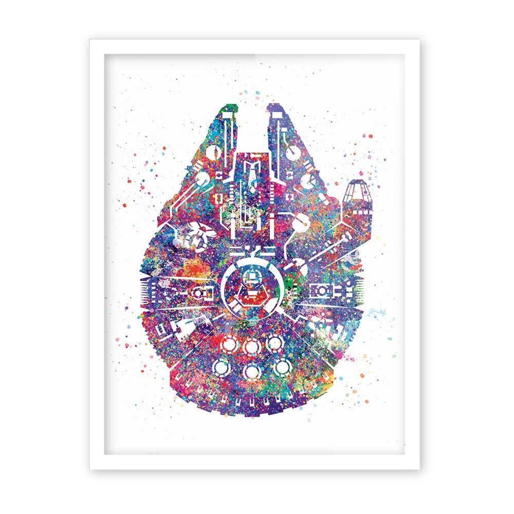 Aliexpress.com : Buy Original Watercolor Star Wars Ship Pop Movie A4 ...