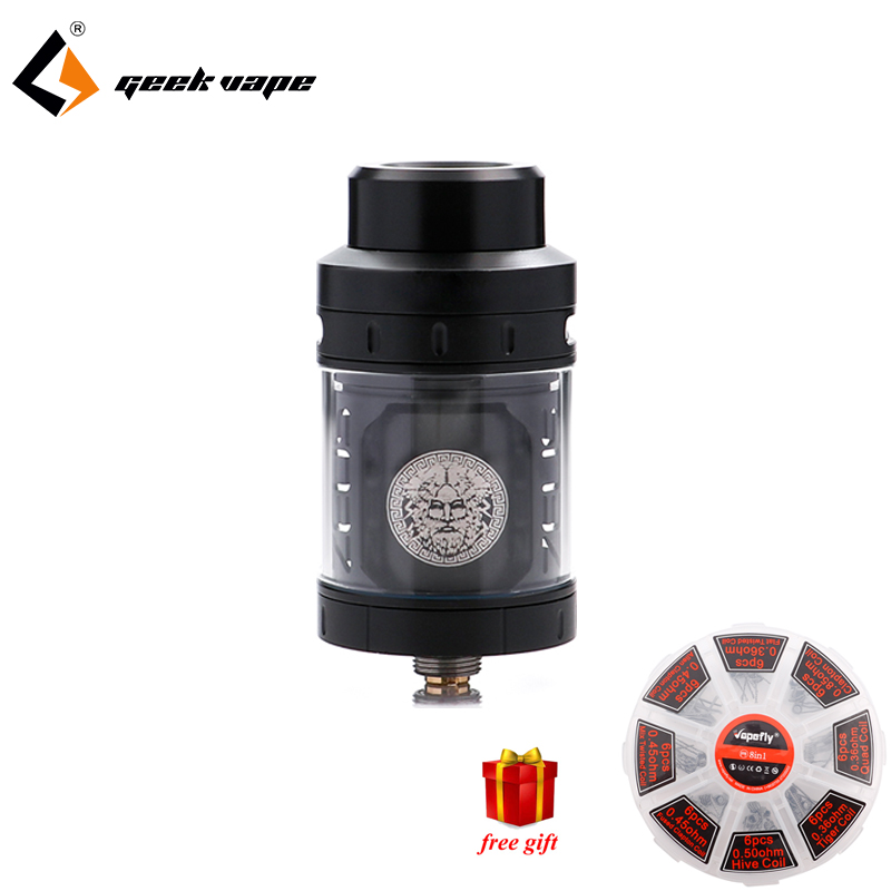Free gift!!!Geekvape Zeus RTA best flavor ecig atomizer 4ml 3D airflow E Cigarette Zeus Atomizer for Geekvape Aegis Box MOD hd rda with side adjustable airflow for e cigarette