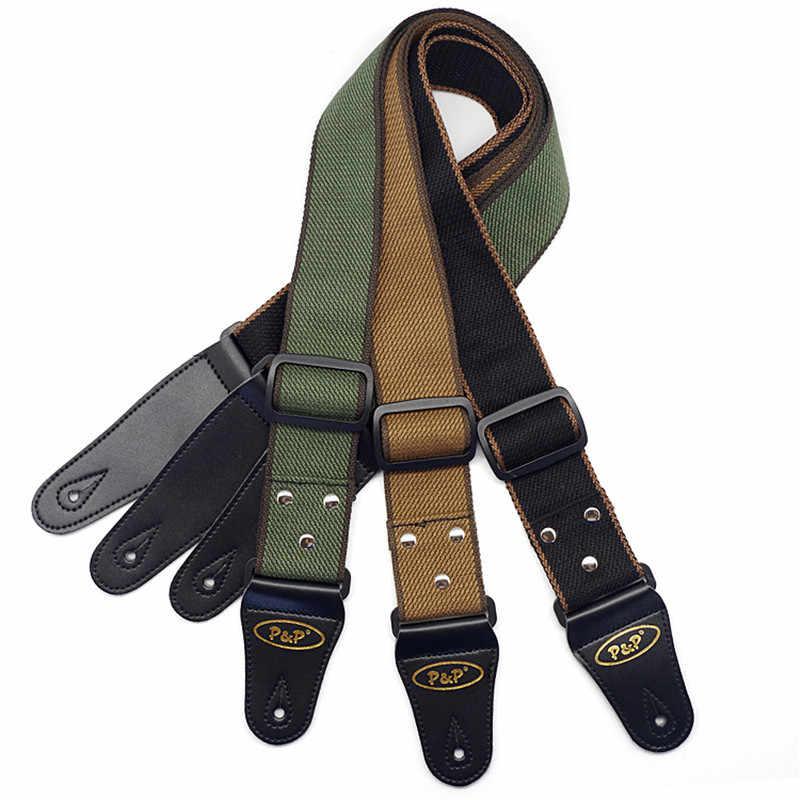Puro Algodão ajustável Belt Strap para Acústico Da Guitarra Elétrica Baixo Da Guitarra Acessórios Para Instrumentos Musicais