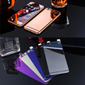2PCS Front+Back Tempered Glass For iPhone 5 5s 5SE Full Cover Screen Protector Mirror Effect Colorful Protective Film Rose gold