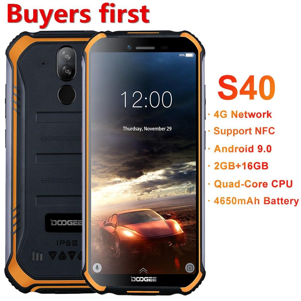 2019 nouveau DOOGEE S40 IP68 smartphone étanche 5.5