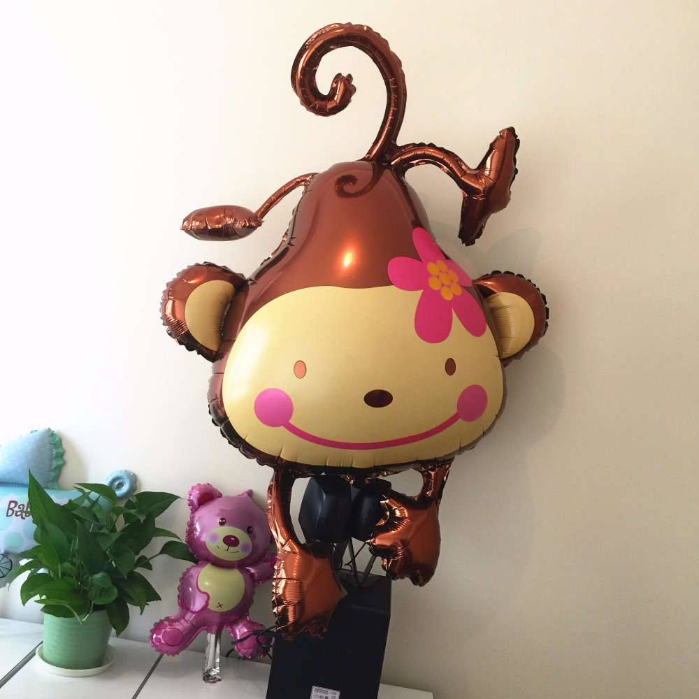 Monkey Flower Modeling Inflatable Foil Helium Birthday Balloon Kid Toy Balloons