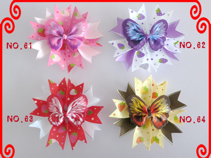 """20 Good Girl Baby 4.5/"""" Butterfly Fairy Wing Hair Bow Clip Spring Easter 208 No."""