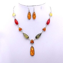Jewelry Sets Silver Plated With Stone Nigerian Beads Necklaces For Women Beautiful Necklace And earrings Complet