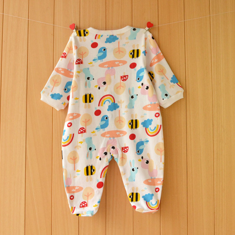 17 New spring cartoon baby rompers cotton 100% girls and boys clothes long sleeve romper Baby Jumpsuit newborn baby Clothing 21