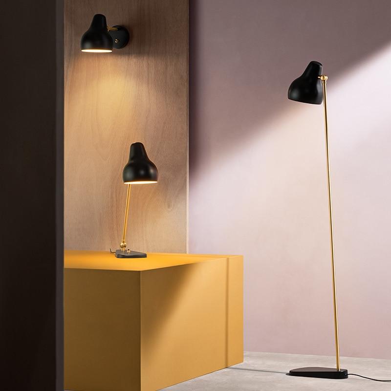 Скандинавский современный стол в стиле минимализм огни для спальни рядом с лампой белый/черный настольная лампа E27 для чтения - 4