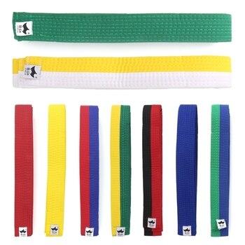 Cinturón de Taekwondo marcial kárate yudo al azar 250cm * 4cm de poliéster + EVA negro, rojo, verde, amarillo, Etc. Para adultos, cinturones infantiles