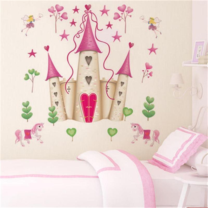 Removable DIY Princess Castle Star Fantasy Girls Bedroom