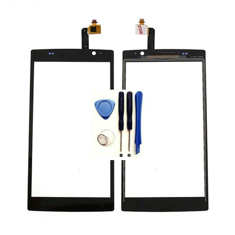 Ponsel Digitizer Kaca Depan Panel Sensor UNTUK Acer Liquid Z500 Sentuh Layar Digitizer Hitam (Bebas + 3 M tape + Membuka Alat Perbaikan + Lem)