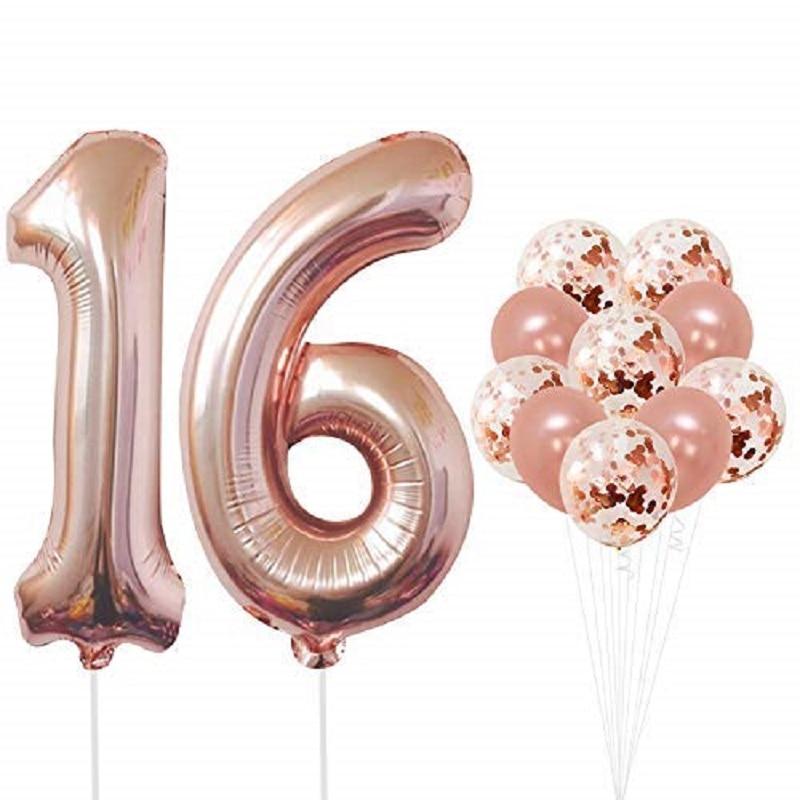 16TH BIRTHDAY SWEET 16 AIRFILL BALLOON FRAME SELFIE FUN FREE SHIPPING