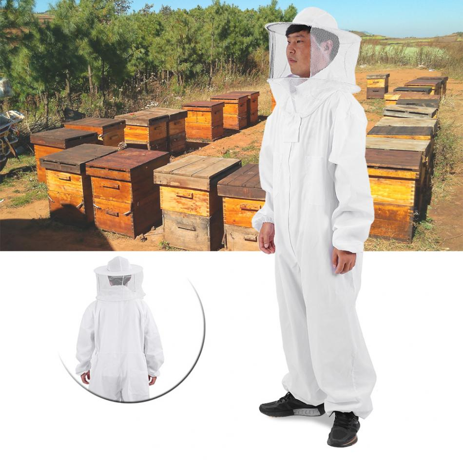 Beekeeping Full Suit Round Veil-Hooded Zipper Necessity Beekeeper Thickened