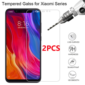 2PCS Tempered Glass For Xiaomi Pocophone F1 Hard Protective Glass For Xiaomi Mi A2 Lite A1 Screen Protector On Mi 4S 4C 4i 4 3 2(China)