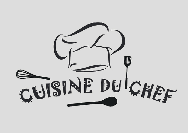 Free Shipping Cuisine Du Chef French Vinyl Wall Stickers Wallpaper Sticker Mural Art Kitchen