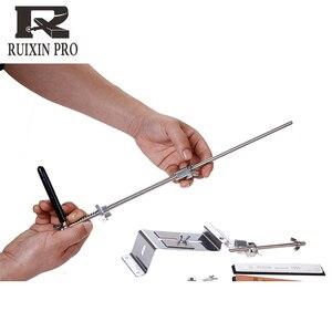 Image 2 - Yeni sürüm bıçak kalemtıraş Profesyonel Mutfak Bıçak Bileyici Bileme Fix Sabit Açı taşlar ile