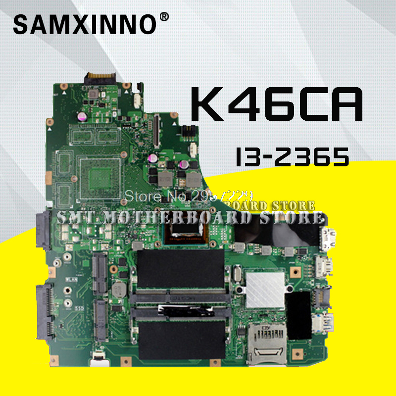 K46CA Laptop motherboard For ASUS Mainboard <font><b>K46CM</b></font> A46C REV2.0 Integrated with cpu i3-2365u on board Fully Tested Work Well image