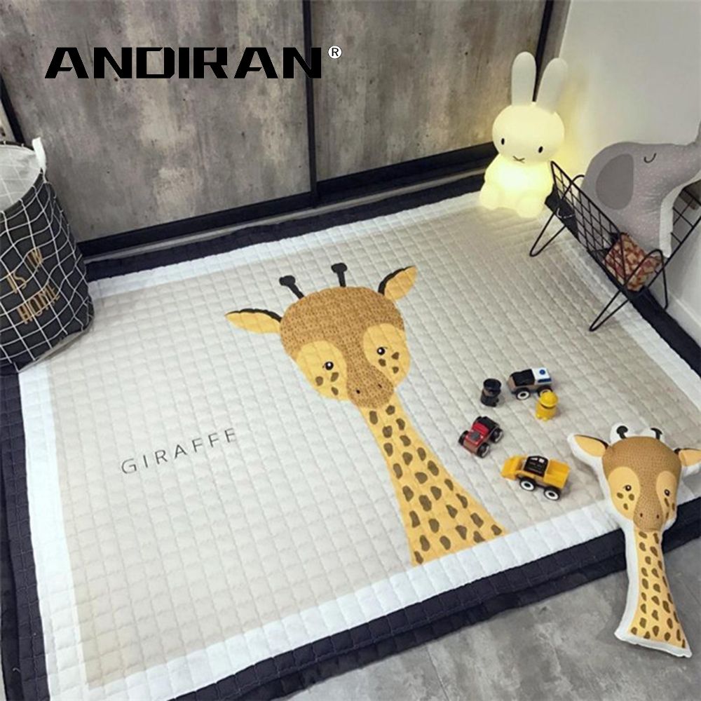 Tapis de jeu pour bébé tapis rampant pour coton aby 2.5 CM épais tapis doux sans odeur tapis de couverture sûr