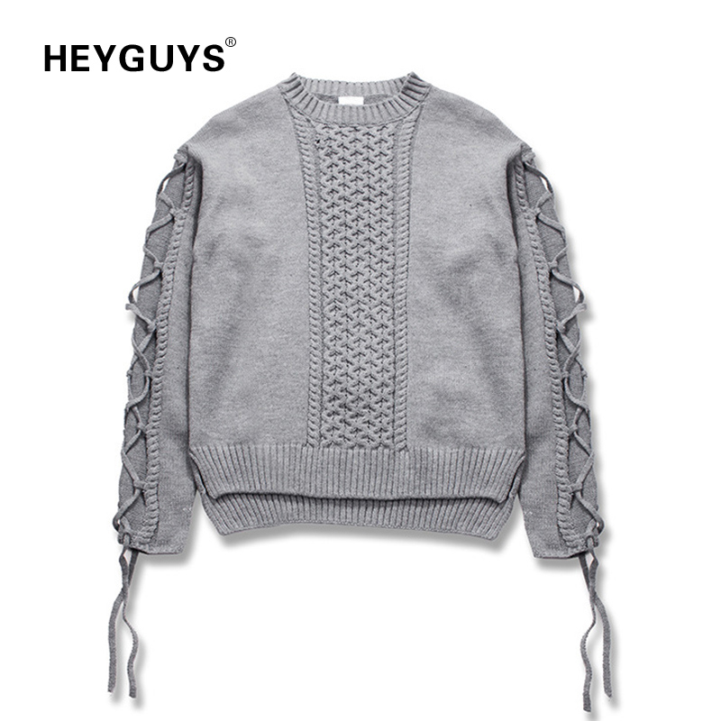 2019 Fashion Heyguys New Fashion Knit Sweater High Street Men Hip Hop Wear Hot Selling Men Designer New Wear Wool Cotton Cool Wear