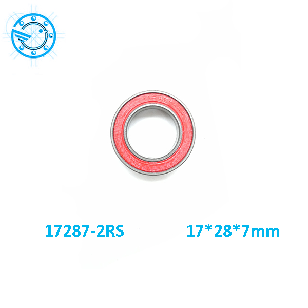 Free shipping 17287-2RS MR17287 17287RS 17287 GCR15hybrid ceramic deep groove ball bearing 17x28x7mm 17287 17*28*7mm free shipping 6806 full si3n4 p5 abec5 ceramic deep groove ball bearing 30x42x7mm 61806 full complement