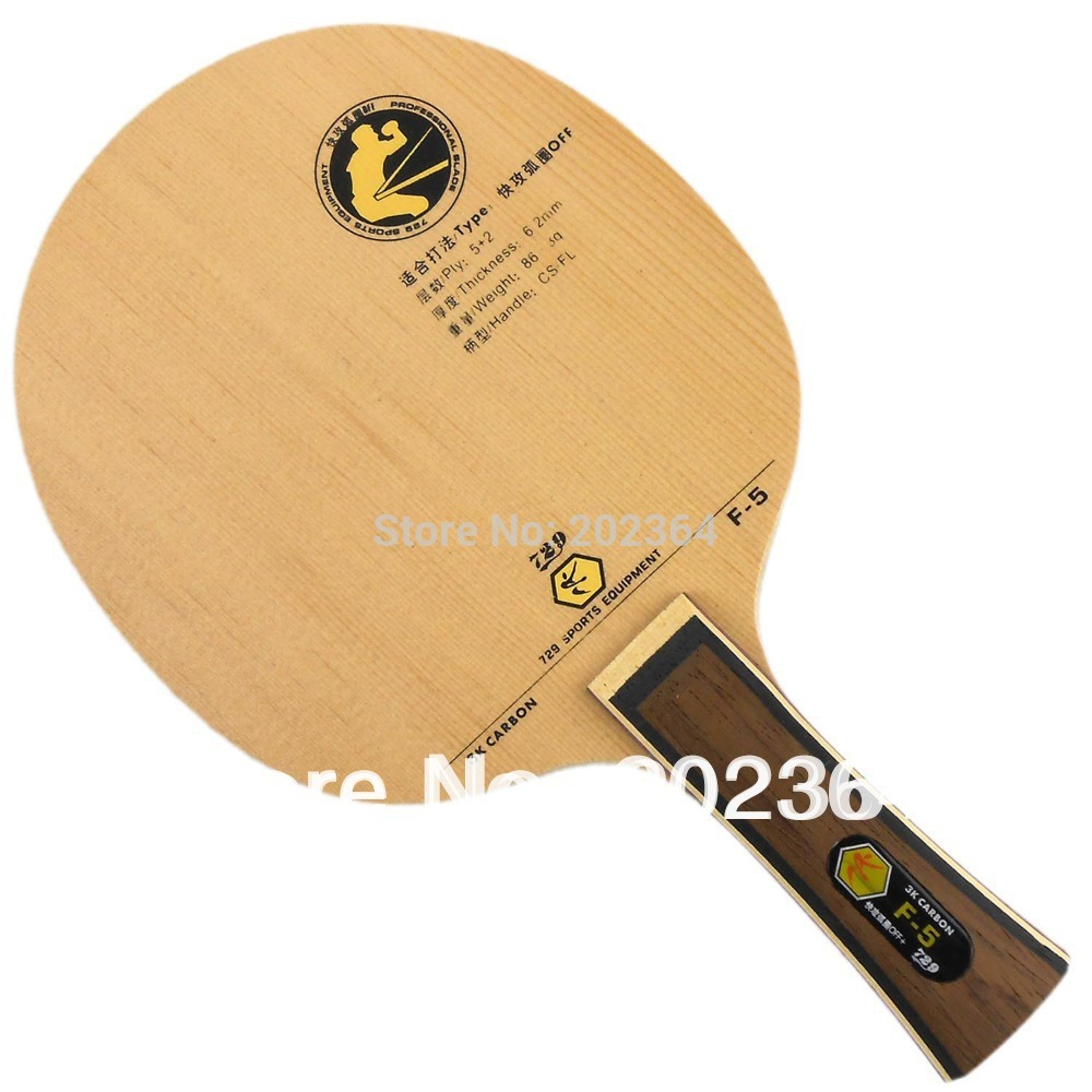 где купить RITC 729 Friendship F-5 (F5, F 5) 3K Carbon OFF Table Tennis Blade for PingPong Racket Shakehand long handle FL по лучшей цене