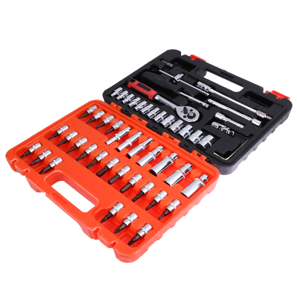 53 Tools set Car Fix Tools Multifunction Factory Home Hand Tools Professional Combination Repair Kits S2 Steel Screwdriver Head 14pcs the key with combination ratchet wrench auto repair set of hand tool kit spanners a set of keys herramientas de mano