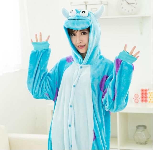 d74fe1ba38 Blue Monster University Sulley Sullivan Onesies Pajamas Cartoon Costume  Cosplay Pyjamas Adult Animal Onesies Party Pijamas