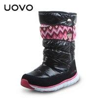 UOVO Brand Children Snow Boots Fashion Oxford Fabric Kids Boots Girls Winter Shoes Bota Menina Warmness