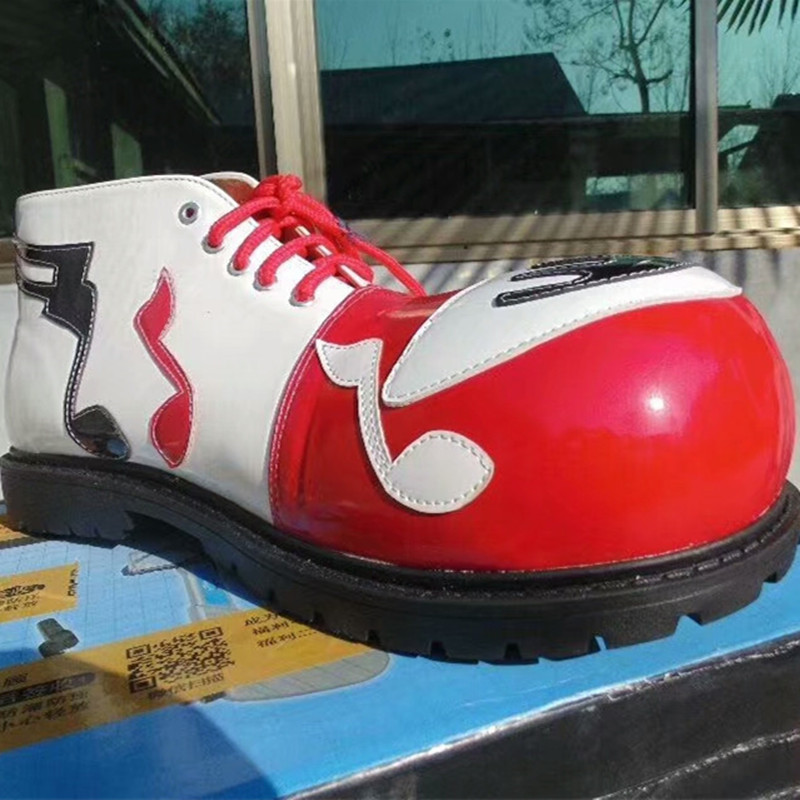 PU cute clown shoes for adults fashion professional clown shoes pennywise the clown booots the joker accessories happy shoes