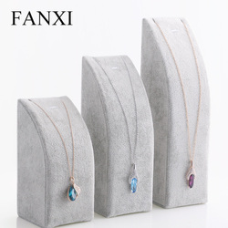 FANXI Jewelry Holder Set Gray Ice Velvet  3 colors available Pendant/Necklace Display Stand Props Showcase