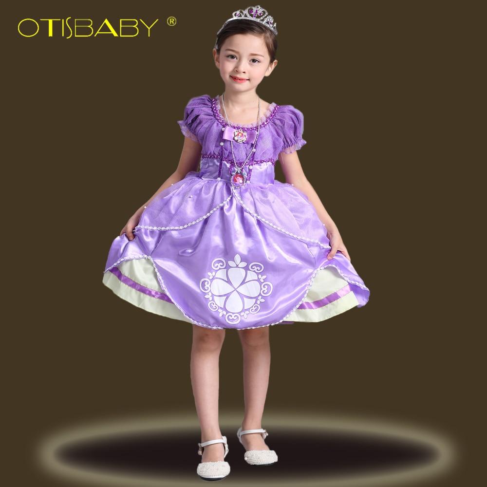 Sofia Princess Dress Kids Cosplay Costumes Girls New Arrival: 2018 Girls Sofia Princess Tutu Dress Halloween Cosplay