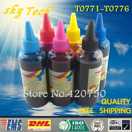 Dye refill ink Suit for Epson T0771 - T0776 cartridges , replacement ink suit for Epson  R260/R380/R280/RX580/RX680 dye refill ink suit for epson t5846 cartridges suit for epson pm280 pm200 pm240 pm290 pm225 specialized ink