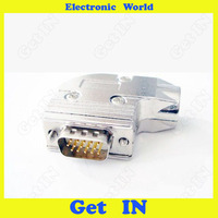 5 шт. 3U Позолоченный разъем D-sub DB15 VGA штекер 90 градусов металлический корпус 3 сырье 15 Pin Solid Jack