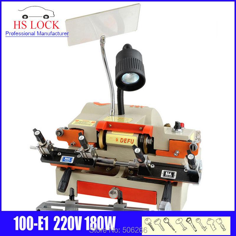 original defu multifunction key cutting machine 100-E1 220v 120w auto key duplication machine made in China fast ship цена 2017
