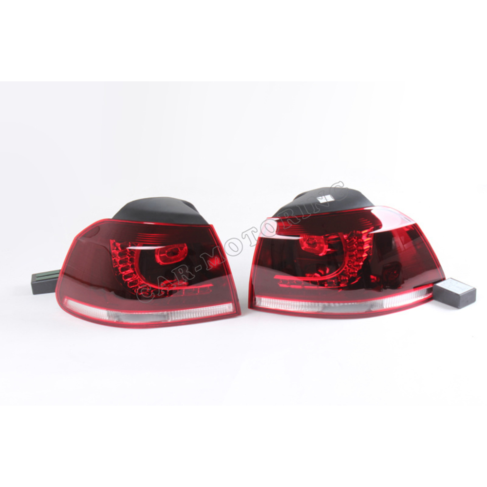 ABS Rear Light Car Led Tail Lamp For VW Golf MK6 2010-2013 car parts tail lamp for vw golf 6 2008 2009 2010 2011 2012 2013 led tail light rear lamp plug and play design