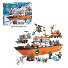 Building blocks classic character toys children compatible building blocks 10443 BELA city polar legoed adventure Arctic icebre цена