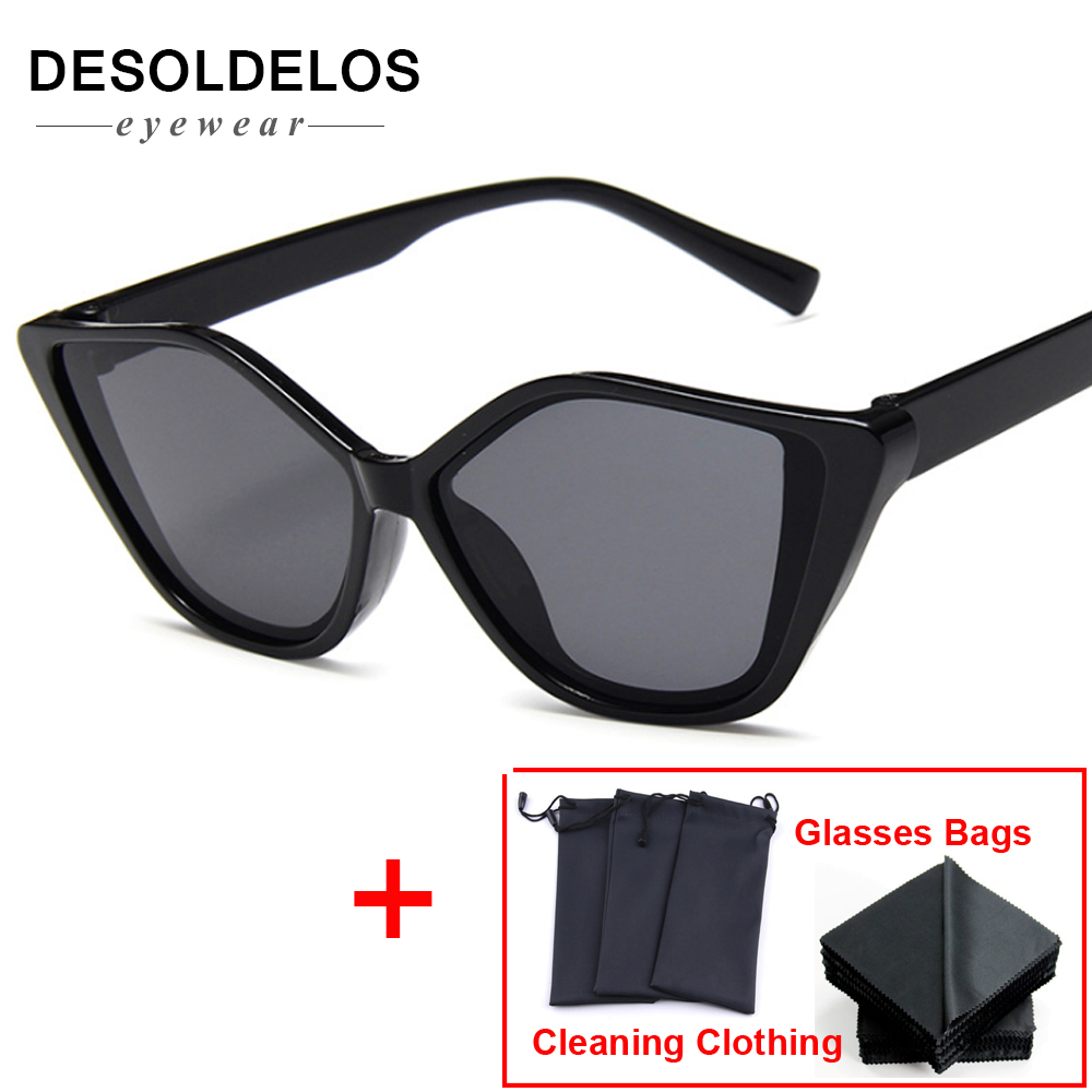 2019 New Cat Eye Sunglasses Sun Glasses Women Men Metal Frame Shade Female Eyewear Eyeglasses Color Clear Lens UV400 DD in Women 39 s Sunglasses from Apparel Accessories
